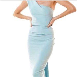 Nicole Bakti one shoulder gown